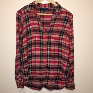 Lucky Brand Tops - Lucky Brand Bungalow Red Plaid Shirt